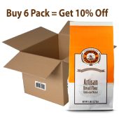 6 Pack Giustos Artisan Unbleached Malted Bread Flour